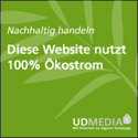 100% Ökostrom-Hosting durch UD Media