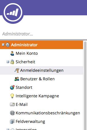 Klicke auf den Punkt E-Mail in der Navigation