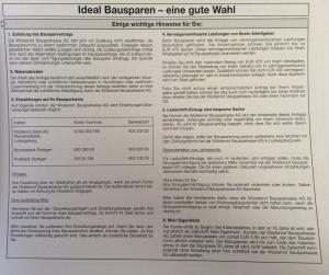 """Bausparvertrag Wüstenrot mit Zeitschriften Abo """"Mein Eigenheim"""""""