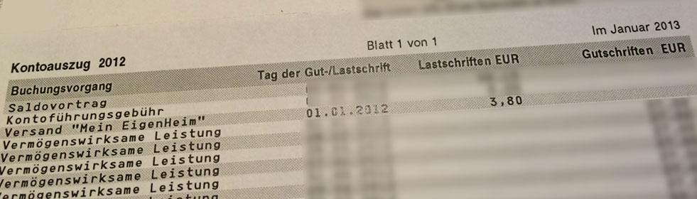 """Abo der Zeitschrift """"Mein Eigenheim"""" kostet dich 3,80€ im Jahr"""