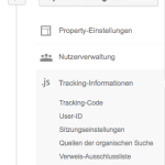 Universal Google Analytics Tracking Informationen
