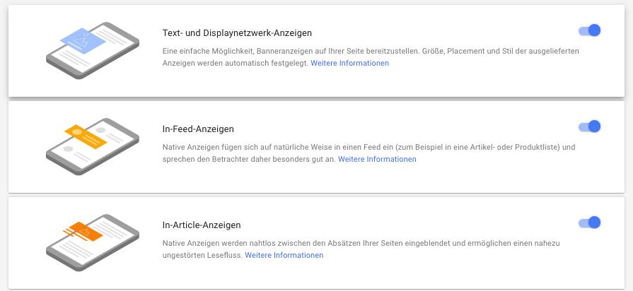 Google AdSense: Neues Anzeigenformat Auto Ads wird durch künstliche Intelligenz vollautmatisch auf der Webseite platziert.